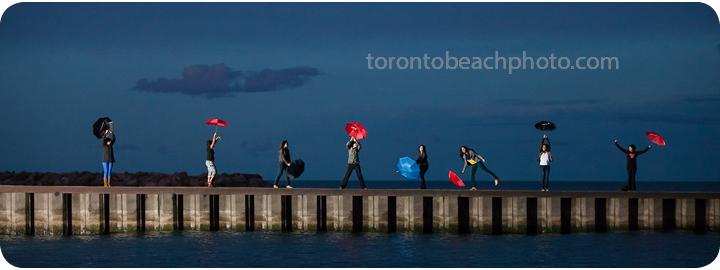 girls on the toronto beach pier