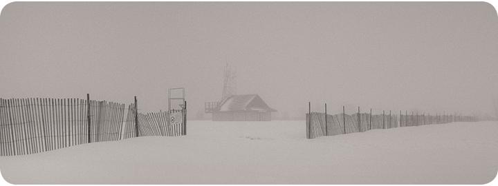 Leuty house in winter storm
