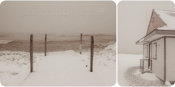 2013 storm lifeguard station in winter beaches